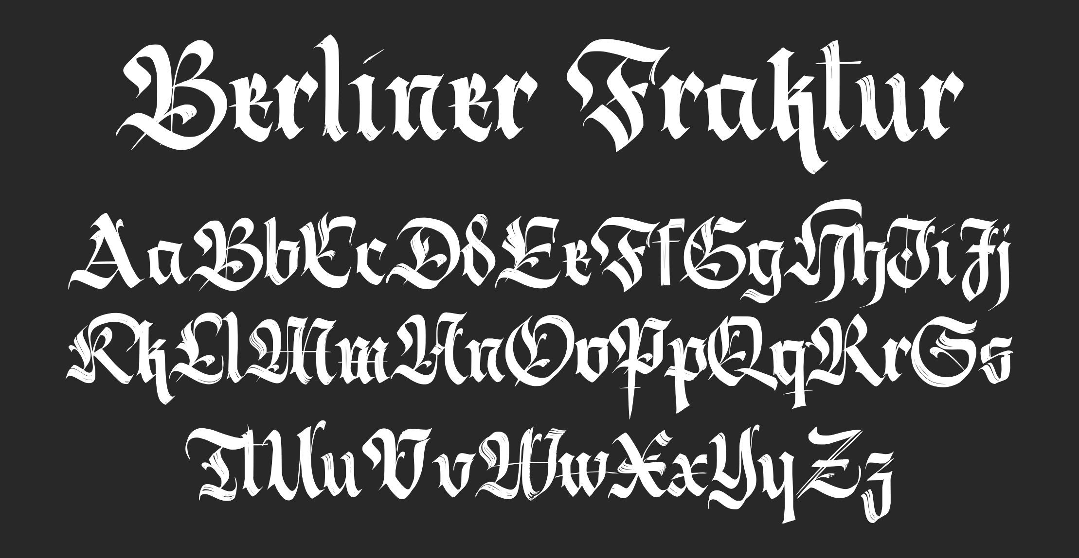 fraktur handwriting